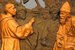 St. Francis of Assisi held a peaceful dialogue with the sultan during the crusades