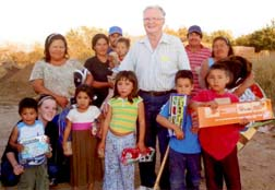 Glen Fraser helps a Mexican family that lost all of its belongings in Hurricane Jimena last year.