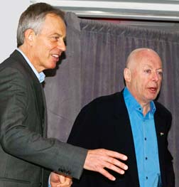 Catholic convert Tony Blair, the former British prime minister, and atheist Christopher Hitchens debated in Toronto whether religion is force for good or ill.