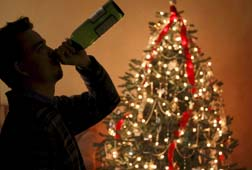 Too much alcohol can be a trigger for Christmas tensions and arguments.