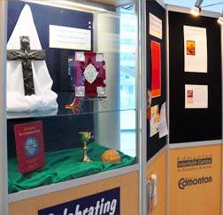 A display of Christian Symbols at City Hall is open to the public.