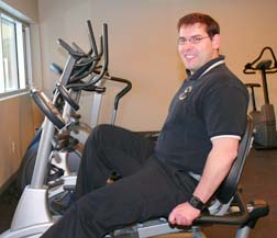 Seminarians like Matthew Hysell are encouraged to use the seminary's fitness room.