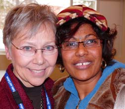 Paulette Johnson and Elena Zerea encourage churches to sponsor suffering refugees.