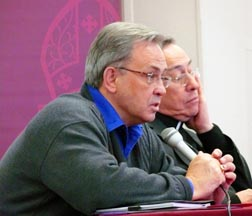 Michael Casey, executive director of the Canadian Catholic Organization for Development and Peace, spoke at a Feb. 18 session along with  Cardinal Oscar Rodriguez Maradiaga.