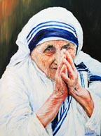 Portrait of Blessed Teresa of Calcutta