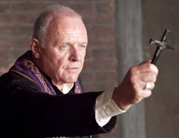 Anthony Hopkins stars in a scene from the movie The Rite.