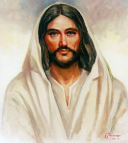 Artist Stanley Gordan's painting of Christ titled 'Jesus, King of the Universe'