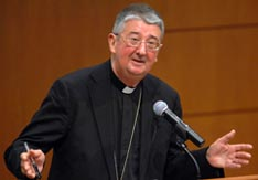 Archbishop Diarmuid Martin of Dublin, Ireland, speaks April 4 at Marquette University Law School in Milwaukee.