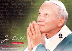 Pope John Paul II is seen in a promotional image for the Polish-produced documentary, 'John Paul II: I Kept Looking For You.' Pope Benedict XVI, who watched the film April 9 at the Vatican, said 'John Paul II was a great contemplative and a great apostle.'