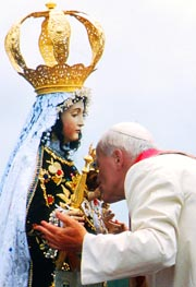 Pope John Paul II had a deep devotion to Mary, the Mother of God.