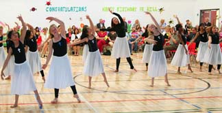 Youth liturgical dance group — The Monsignor Dancers — featuring dancers from Msgrs. William Irwin and Fee Otterson schools in Edmonton interpret the song You Raise Me Up to More Than I Can Be.