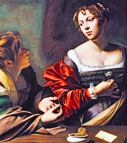 The Conversion of the Magdalene, depicts Martha's converting Mary to embrace a Christian life.