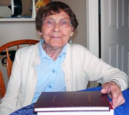 Jeannette Romaniuk, 90, penned her book to raise money for the city's homeless.