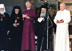 Pope John Paul II attends an interreligious encounter in Assisi Italy in 1986, an occasion Pope Benedict said he will repeat in October to mark the 25th anniversary of the late pope's historic encounter.