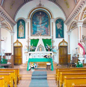 St. Bernard Mission Church retains its original architectural integrity.