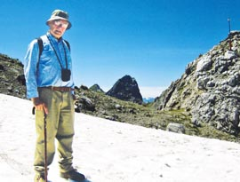 Fr. George Neumann returned recently to his homeland to hike in the Alps with his brother.