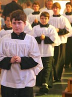 Altar servers at Ss. Simon and Jude Cathedral in Phoenix take part in a special Mass in their honour.