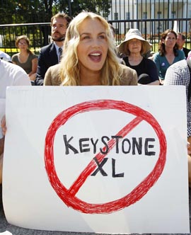Actress Daryl Hanna was among those arrested in protests in Washington against the proposed Keystone XL pipeline Aug. 30.