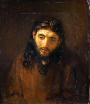Head of Christ, attributed to Rembrandt van Rijn, a holding of the Philadelphia Museum of Art, is among six such paintings created by the Dutch master and his students that have been brought together for the first time in the exhibit Rembrandt and the Face of Jesus.