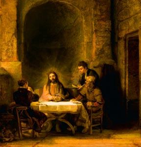 Supper at Emmaus is among the works now being shown at the  Philadelphia Museum of Art.