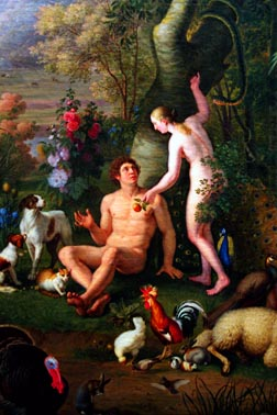 This painting of Adam and Eve by Peter Wenzel illustrates the debate among evangelicals on the reality of Adam and Eve.