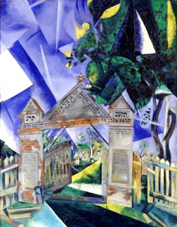 Marc Chagall's Cemetery Gates is currently on display at the Art Gallery of Ontario.