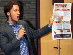 Child rights activist Craig Kielburger asked Calgary students if they want to live in a racist world.