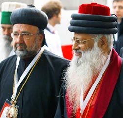 Delegates representing various religions are seen arriving for an interfaith peace meeting with Pope Benedict in Assisi, Italy, Oct. 27.