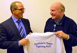 Gordon Self of Covenant Health and Michael Rock discuss support for Rock's daughter Siobhan who suffers from Lou Gehrig's disease.
