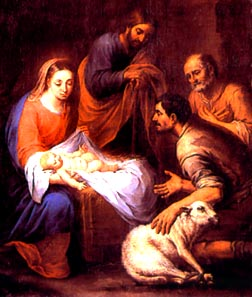 The Nativity and the Adoration of the Shepherds, a painting by Bartoleme Esteban Murillo, captures the light of Christ.