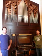 Fabien Tremblay and Sebastien Kardos spent two weeks installing a Casavant pipe organ in the chapel of St. Joseph Seminary.