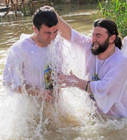 Through Baptism, we are plunged into Christ's death and resurrection.