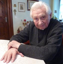 Msgr. Georg Ratzinger, the brother of Pope Benedict, is pictured at his home in Regensburg, Germany, last year.