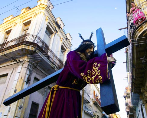 A Stations of the Cross procession takes place in Havana during preparations for Pope Benedict's March 26-28 visit to Cuba. The pope will go to Cuba after his March 23-25 stay in Mexico.