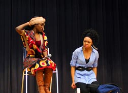 Jullian Namakula, left, and Renita Comrie's performance fights the stigma of mental illness.