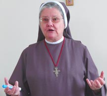 Franciscan Sr. Lorelei Fuchs urged Christians to stay at the unity table.