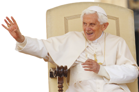 Pope benedict acknowledges pilgrims at his general audience at the Vatican April 18.