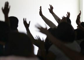 People attend a prayer service at an evangelical church in Leon Mexico. Evangelicals now count roughly 97.5 million followers in Latin America and the Caribbean.