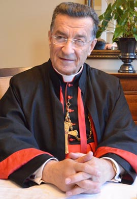 Maronite Patriarch Mar Bechara Boutros Al-Rahi says Christians in Syria have convivial relations with Muslims and would like to see the spirit continue.
