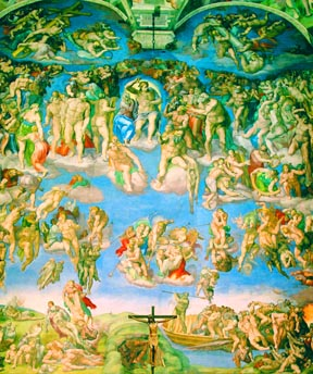 Michelangelo's image of Jesus as the great and final judge is in the apse of the Sistine Chapel.