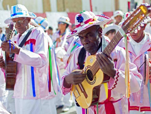 Musicians take part in a parade during the Festa do Divino, or Festival of the Divine, in Sao Luiz do Paraitinga, Brazil, May 27. The Festa do Divino is one of Brazil's most important Catholic celebrations, marking Pentecost 50 days after Easter.