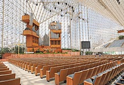 This is an interior view of the former Crystal Cathedral in Garden Grove, Calif., which was purchased for US$57.5 million by the Catholic Diocese of Orange, Calif., in February.