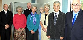The Rev. David Skelton, Cynthia Cordery, Fr. David McLeod (Catholic mentor priest), Mary Skelton, Audrey Swinton, Clare Bennett, Keith Bennett and Bryan Donegan plan to join the Roman Catholic Church.