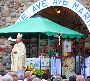 Edmonton Archbishop Richard Smith says Christians must bow down in awe before what God has accomplished through Mary.