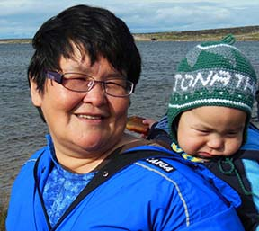 Jacqueline and Tyler Tuktoo from Taloyoak, Nunavut, were delegates to the diocesan meeting.