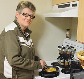 Debbie Jodoin is getting help adjusting to her new life through the Welcome Home program.