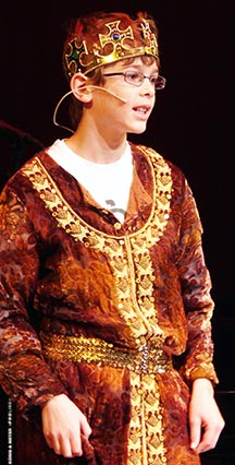 David Mayhew, 10, won the sought-after role of King Herod.