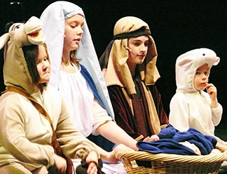 The young actors in Karol Wojtyla's Nativity Play took their lines from a traditional Bible translation.