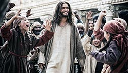 Diogo Morgado portrays Jesus in a scene from the television miniseries The Bible on the History Channel.