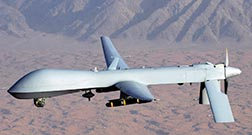 This image courtesy of the U.S. Air Force shows a MQ-1 Predator unmanned aerial vehicle, also known as a drone.